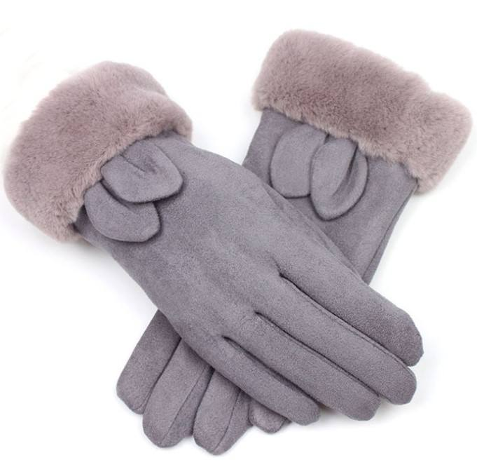Universal Size Comfortable Soft Ladies Custom Suede Winter gloves