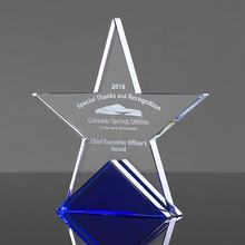 Hot sale business souvenir cheap competition company reward crystal awards gift