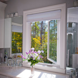 upvc frame double tempered glass casement windows