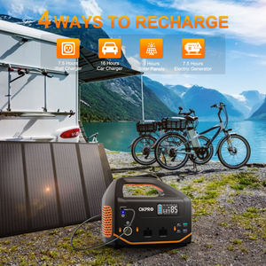 Portable Power Station Lithium Battery 500W Sine Wave AC Outlet Solar Generator for Outdoors Camping Travel Hunting Emergency