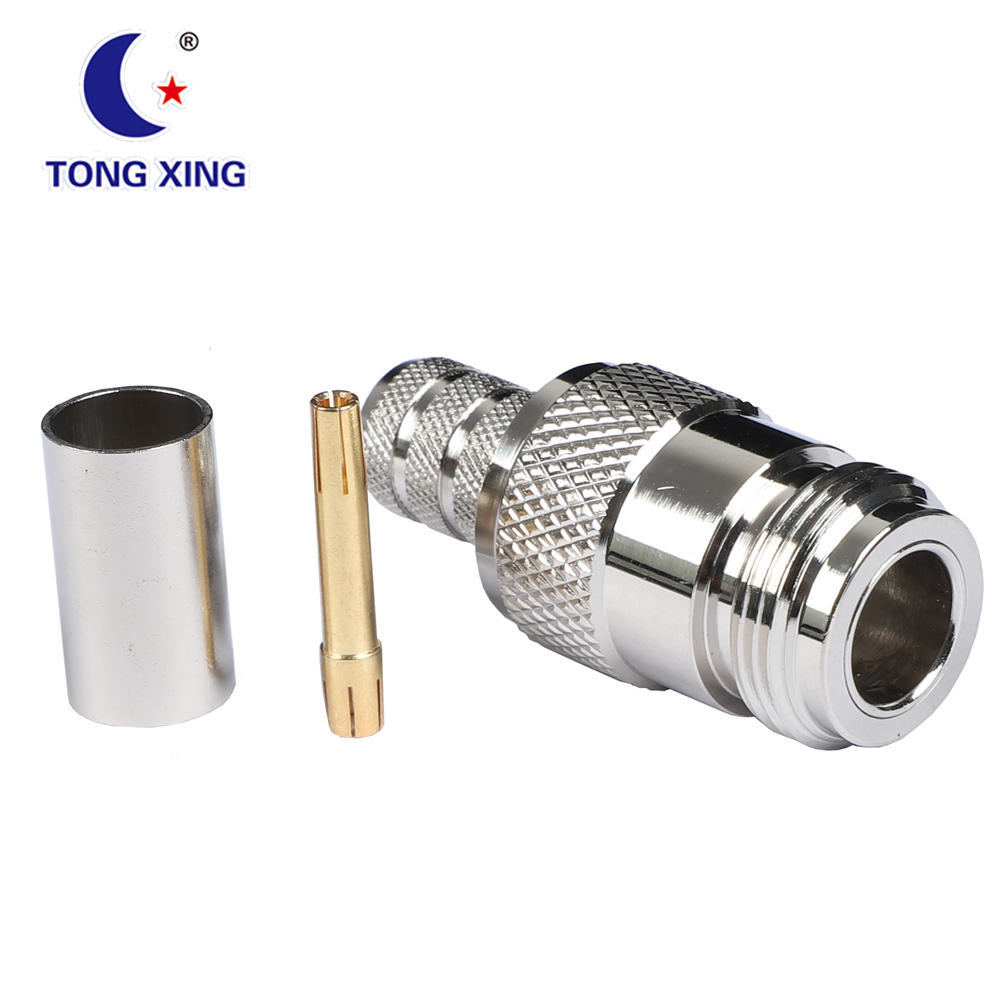 N Type Jack Female Crimp RF Coaxial Connector For RG213 7dfb Cable