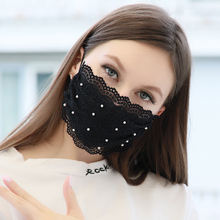 New Stock Reusable Pearl Beads Facemask Anti Dust Thinner Style Summer Girls Women Lace Facemask for outdoor