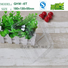 Vegetables food dry fruit tray clear plastic disposable salad container pet packing box