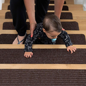 polyester striped mat simple stair treads carpet for home stairs