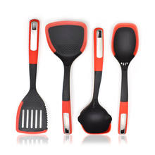 Amazon hot sale Kitchen Accessories 4pcs Nylon with Silicone Edge Kitchen Cooking Utensil set