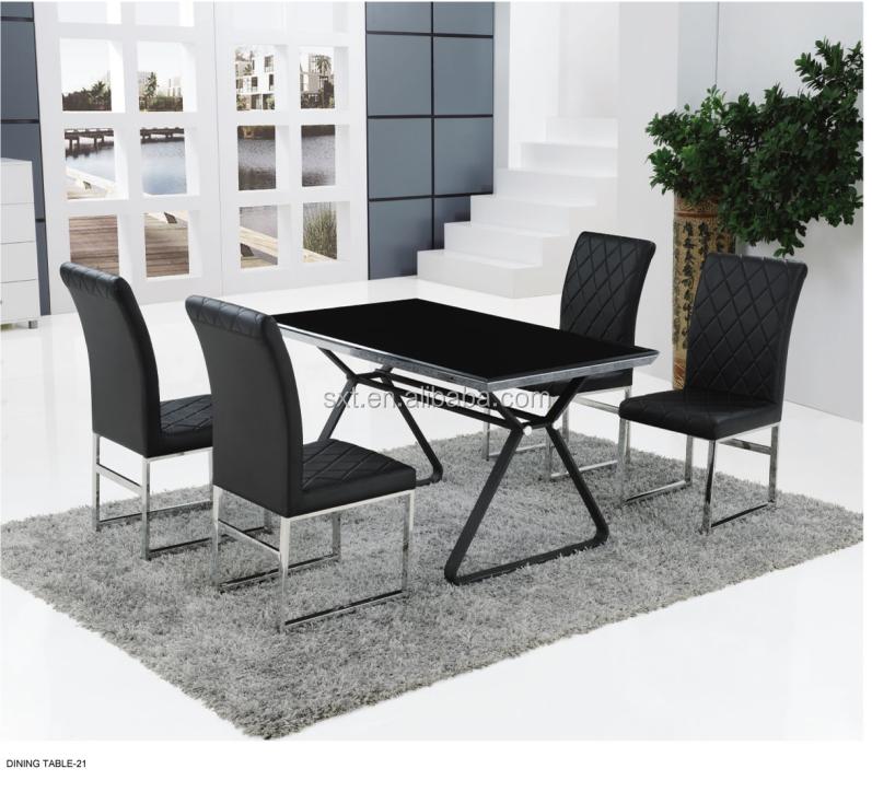 2014 hebei MDF schwarz Hochglanz moderne Esszimmermöbel