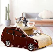 China largest supplier durable SUV car shaped corrugated cat scratch catpet board pet toy with catnip