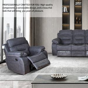 Hot Sell Comfortable Fabric Couch Sectionals Manual Recliner Sofa Set Living Room Furniture