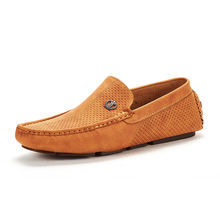 Men's Foldable Flat Slip-on Soft Casual Leather Moccasin Driving Loafers Shoes