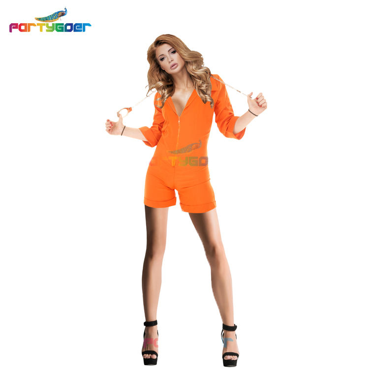 Extraordinary Comfort Sexy Costumes Cosplay Costume Halloween Female Prison Jumpsuit Suit