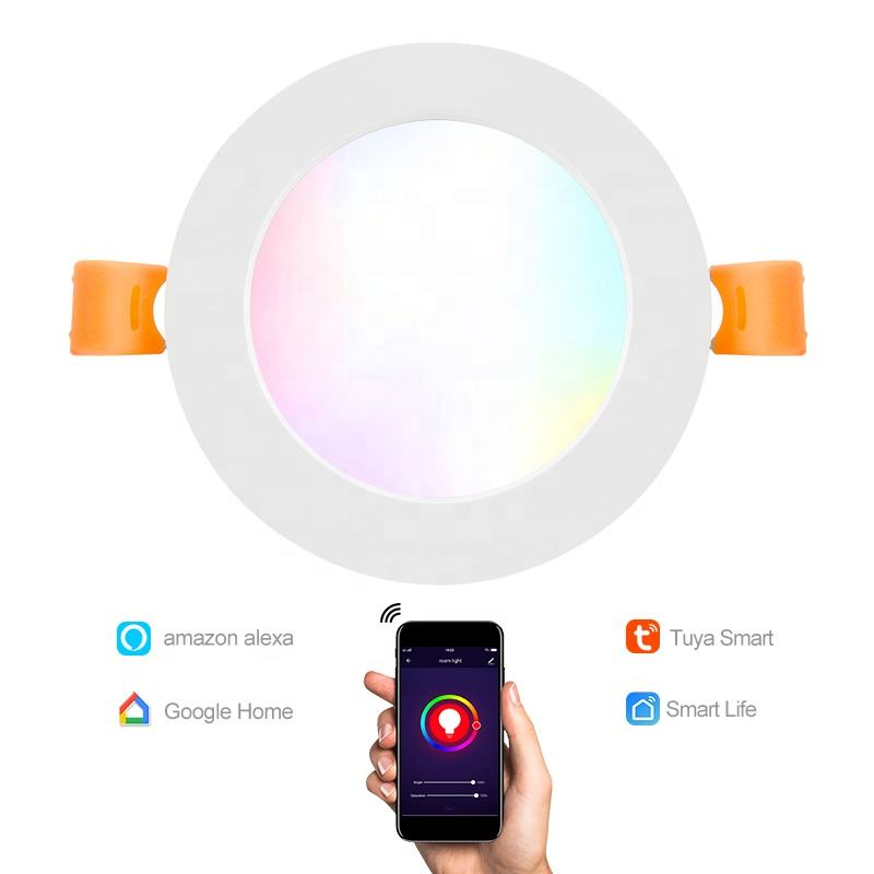 Gratis Logo Afdrukken RGBW Dimmen 10W Smart Wifi Tuya Led Downlight Compatibel Met Amazon Alexa En Google Home LED downlight