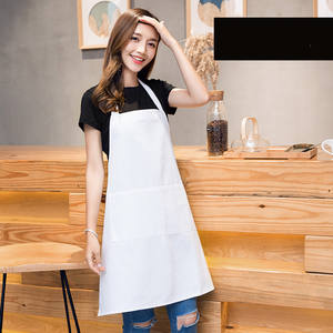Different styles apron household kitchen overalls with pocket fashion women custom-made Logo print cooking cotton chef aprons