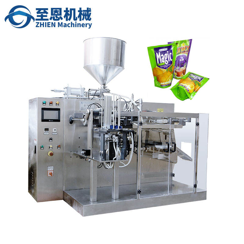 Premade doypack stand up pouch liquid filling packing machine automatic doypack filling sealing machine