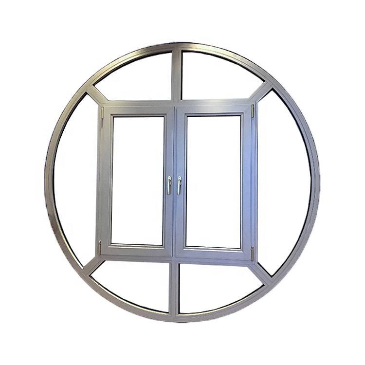 Qidian Customized Round Design Double Glazed Aluminium Casement Window