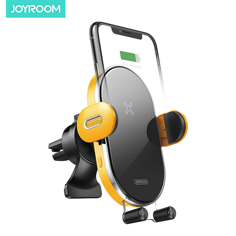 joyroom air outlet infrared induction qi car phone wireless charger car mount for mobil phone
