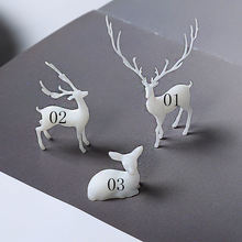 3D Resin Fairy Deer Inclusion Miniature Animal Embellishments Resin Jewelry DIY Terrarium Fairy Garden Making Supplies