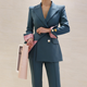 2020 spring new women's suit OL professional elegant small suit jacket slim straight Business pants casual two-piece suits