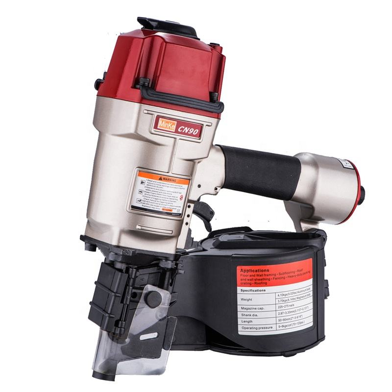 Minke supply high quality CN45 CN50 CN55 CN57 CN70 CN80 CN90 CN100 CN130 AIR same MAX COIL NAILER for wooden package
