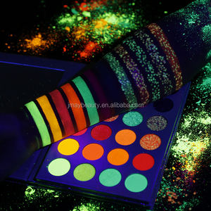 Neue Großhandel Kosmetik Private Label Custom Make-Up Hohe Pigment 24 Farbe Shimmer Lidschatten Glitter Luminous Lidschatten-palette