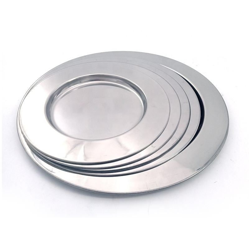 Magnetic mirror metal round dish wholesale from china