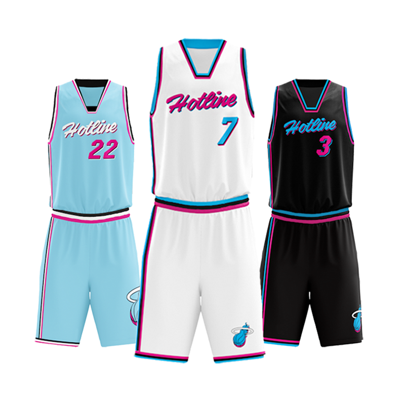 Top Quality Sublimation Printed Basketball Jersey Design Basketball Uniforms