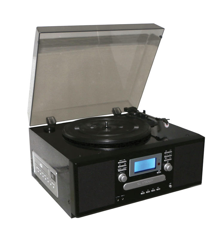 AM/FM Radio Cassette player w/CD Recorder, CD to CD Recording, Line IN/OUT function retro vinyl turntable player