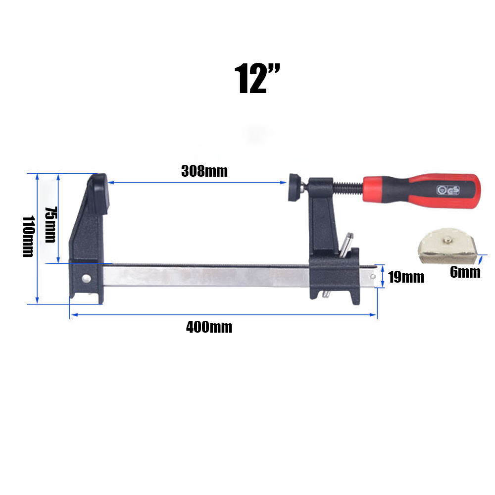 12 Inches Conventional F Clamp for Wood working and Other things