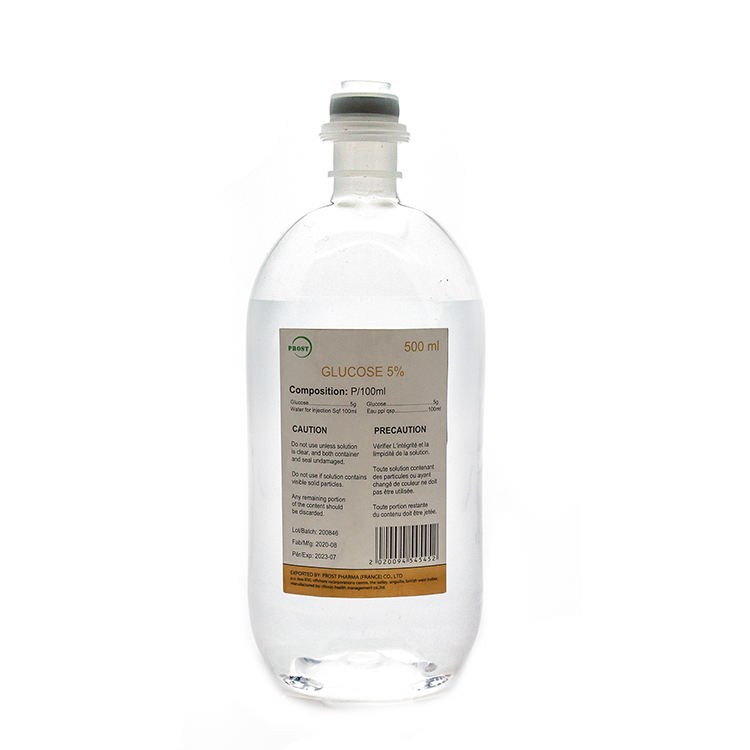 Factory supplier 5% glucose injection 500ml medical glucose injection drip