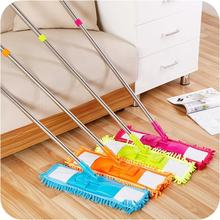 Household Cleaning Green Flat Dust Good Price Mop Head With Handle Livingroom Bathroom Mop