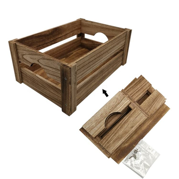 Custom Cheap Fruit Vegetable Stackable Wooden Crates Box