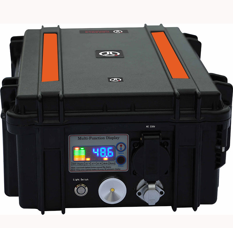 1920Wh Portable 120V Solar Power Generator 48V Lithium Battery With DC 5V 12V Output for Outdoors Office