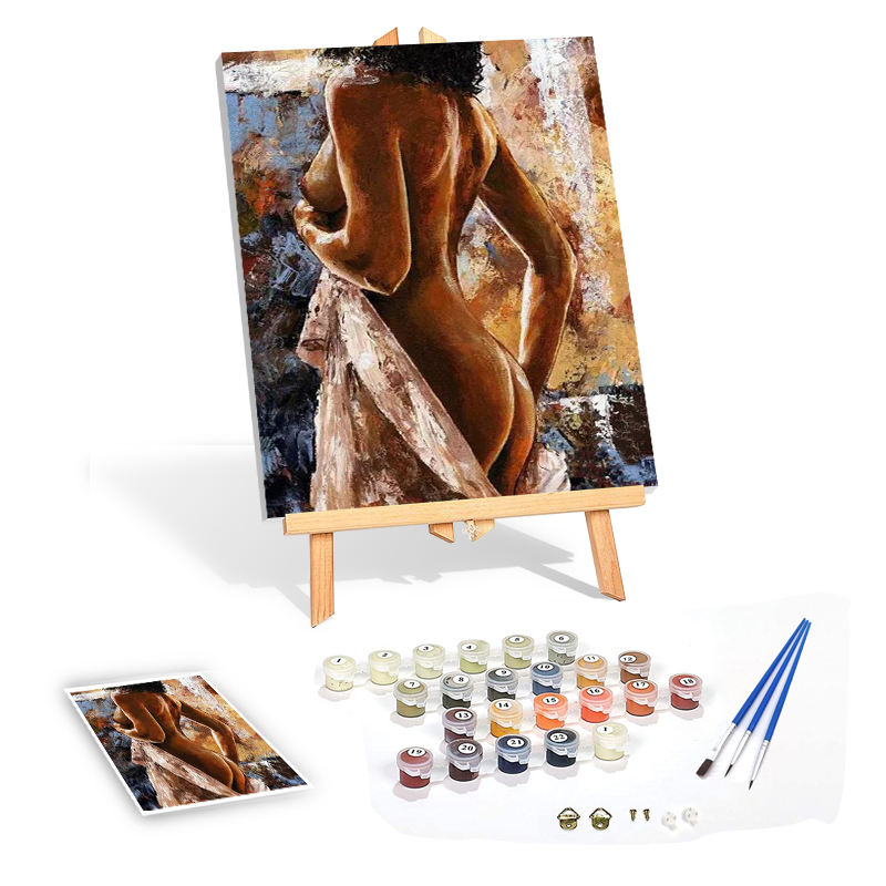 Wholesale DIY Oil Painting by Numbers Picture Drawing Coloring on Canvas for kids
