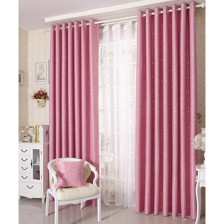 Low MOQ wide width 100% polyester living room decorative beads luxury curtains