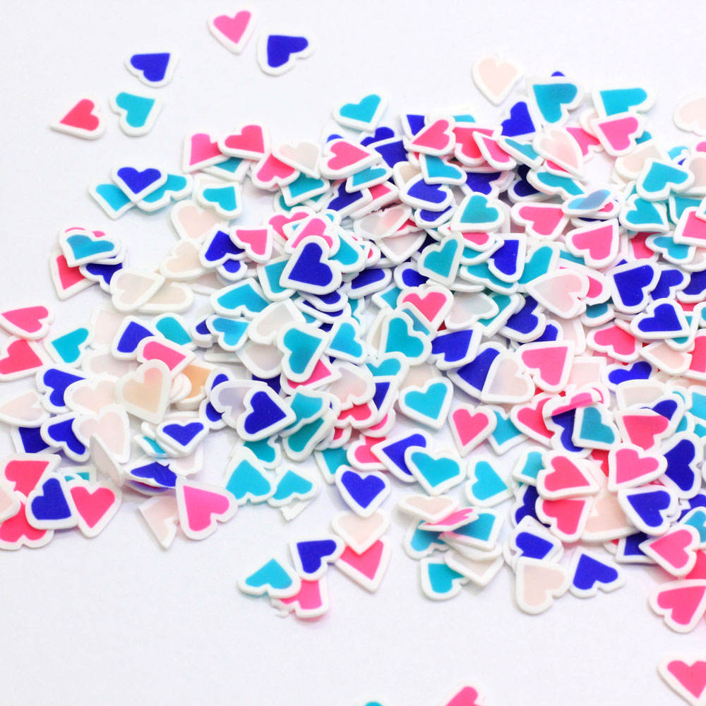 Mixed Colorful Lovely Heart Slice Polymer Hot Clay Sprinkles For Crafts DIY Nail Art Decorations Scrapbooking Phone Decor