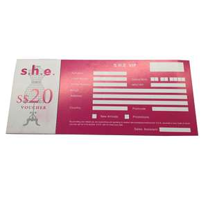Custom printing Paper ticket for Concert Ticket / Museum Ticket