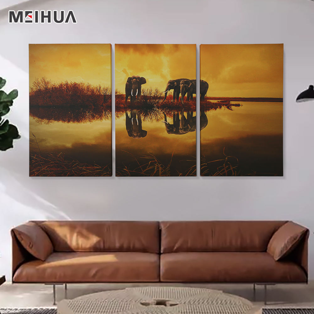 Abstract oil paintings 3 panel affordable canvas wall art for sale