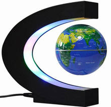 Creative Anti-gravity World Map C-shaped 3-inch Maglev Globe Of LED lights for birthday gift