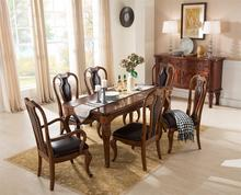 Customize color and size solid wood table and chairs dining room sets