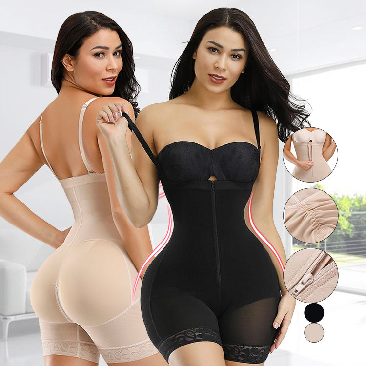 Plus Size Shapewear Open Kruis Bodysuit Rits Haken Comfort Anti-Zoom Dames Afslanken Body Shaper