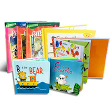 Cheap Book Printing Services Custom Children's English Cardboard Books Set Hardcover