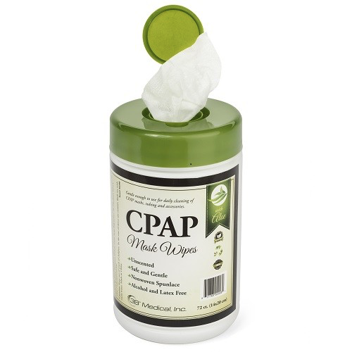 Private label CPAP mask cleaning wipes in canister