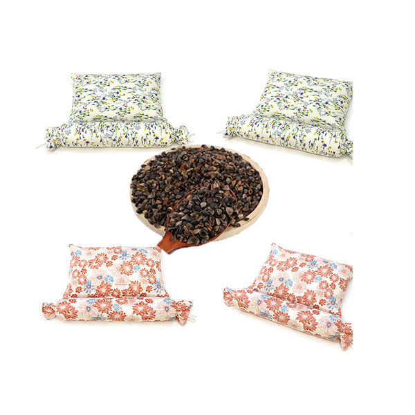 Wholesaler Organic Material neck pillows filling stuffing for sleeping migraine Relief tartary buckwheat Shell