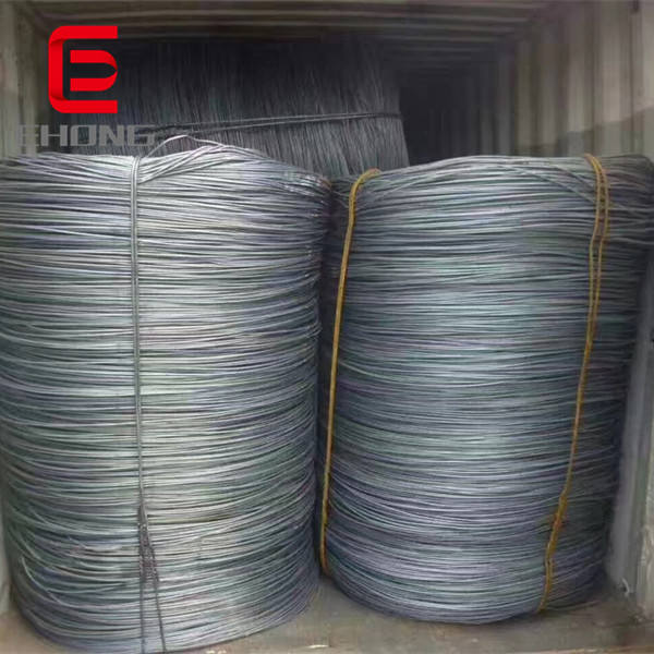 China Suppliers Hot Rolled Steel Wire Rod In Coils 5.5mm 6.5mm Low Carbon Steel MS Wire Rods Price