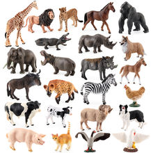 12pcs Plastic Simulation Animal Model Toy Sets PVC Wild Animal Figure Farm Toy Model