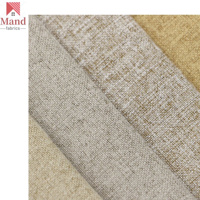 Mand textile wholesale multicolor stock lazy boy style eco soft hand polyester microfiber faux linen fleece fabric for pillows