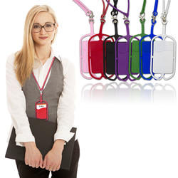 Factory wholesale silicone cell phone holder lanyard with ne