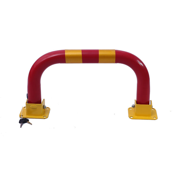 CR-13 Red Lock Chuangrui Folding Private A Car Park Parking Spike Barrier With Warning Stripes Remote Gate Is Rising