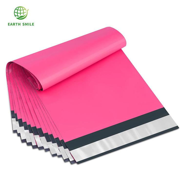 Amazon Hot Sale Sizes Custom Strong Bio Degradable Cosmetic Make Up Postage Bag Pink Mailing Bags