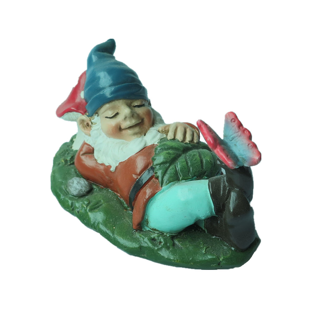 Gnome on Toadstool 11 Inch Resin Decorative Garden Statue Figurine