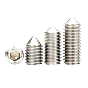 6pcs M3 Slotted screws ball head set bolts grubs hex socket slot screw bolt grub